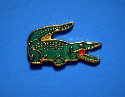 Lacoste Clothing - Crocodile Logo - Vintage Pin - Hat Pin - Pinback