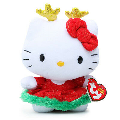 Ty Hello Kitty Beanie Baby - Reindeer  5.5'' H Sanrio Licensed Product New!
