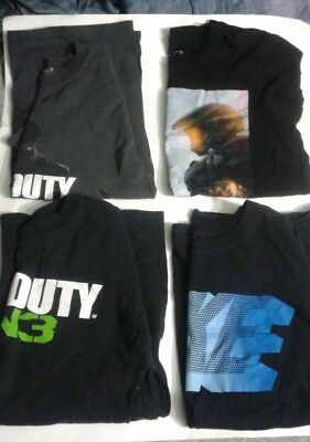 Lot of 4 Mens Tshirts Size Small Call of Duty, Halo, Nike ( young mens-teens )