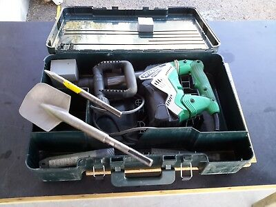 Hitachi Koki SDS Max Demolition Hammer w/User Vibration Protection H45MRY 2 Bits