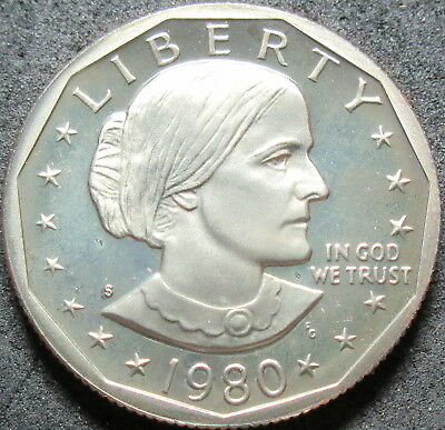 1980-S  Proof Susan B Anthony Dollar Coin