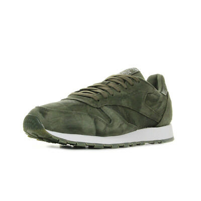 6c238171cdfab9 Chaussures Baskets Reebok homme Classic Leather CTE Army Green taille Vert  olive