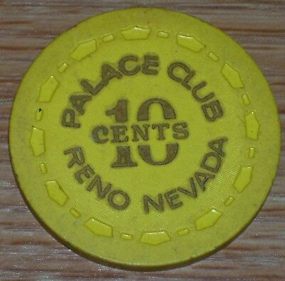 .10 Chip From The Palace Club Casino. Reno S&h Combined Up To Eight Chips Won