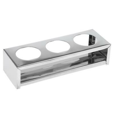 Stainless Steel Dental Instrument Storage Rack Holder Tray 3 Holes