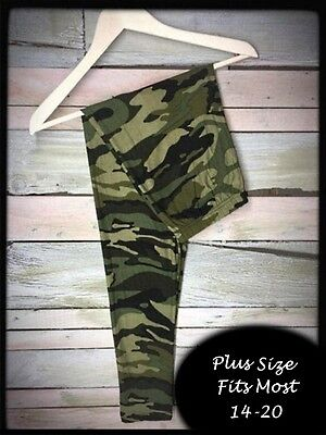 Green Camo Plus Size Amazing Buttery Soft Leggings