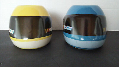 Nascar Racing Helmet Mugs 1 Yellow and 1 Blue