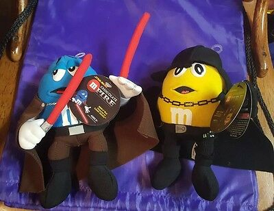 M&M Blue as Count Dooku & Yellow as Darth Vadar. Star Wars.Plush New With Tags