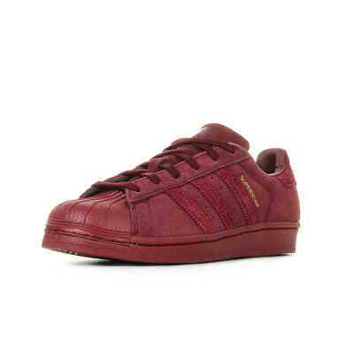 best sneakers a1f05 bbeca Chaussures Baskets adidas unisexe Superstar Collegiate Burgundy taille  Bordeaux