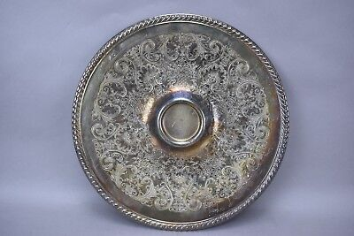 International Silver Wm Rogers Chip Tray 866 Silverplate Hollowware Etched