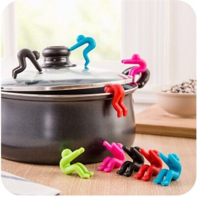 2PCS Silicone Cooking Pot Saucepan Spill Lid Anti Overflow Splash Kitchen Tool