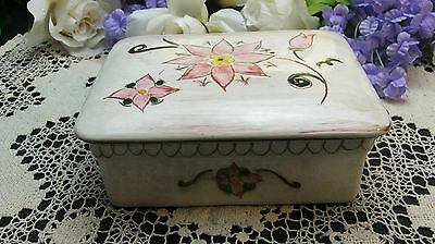 Stangl Pottery Kay Hackell Terra Rose Cigarette Trinket Box Star Flower