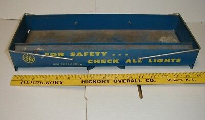 vintage old metal GE Automotive Lamps Light bulb store Display tool box tray