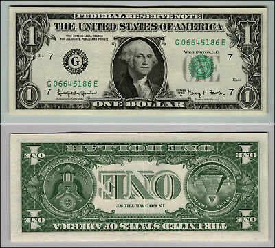 1963A Uncirculated $1 Dollar Bill  Federal Reserve Note  Lot W183