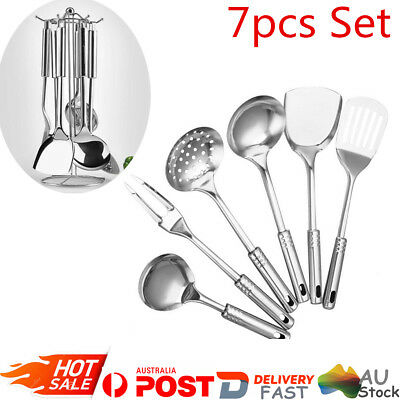 7PCS Stainless Steel Cookware Set Cooking Tools Set Spoon Kitchen Utensil Shovel