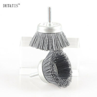 2pcs OD65*6mm 320Grit Cup-shaped Abrasive Wire Polishing Brush Nylon Wire Brush