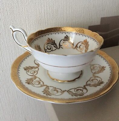Elijah Brain Foley China White/gold Cup & Saucer