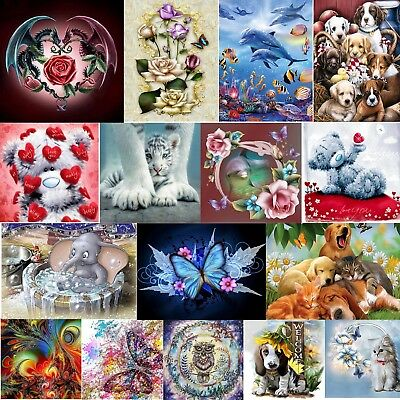 DIY 5D Double Dragon Diamond Painting Embroidery Cross Stitch Needlework Crafts