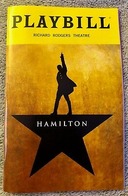 Hamilton playbill - Broadway - *(Discounted: Read Details)* - Free fast shipping