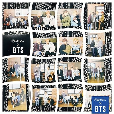 [BTS Mediheal] Official Photocard Mask Sheet Special Limited 02_Brightening