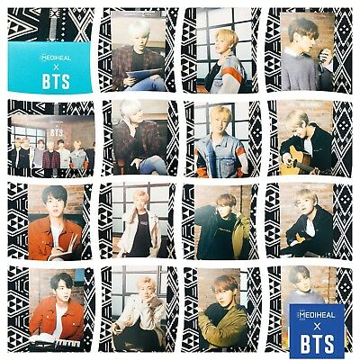 [BTS Mediheal] Official Photocard Mask Sheet Special Limited 04_Soothing Ver