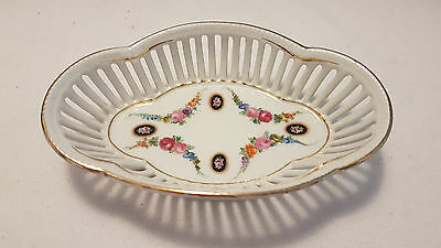 Shabby Chic Trinket Dish, Immaculate Condition, openwork china