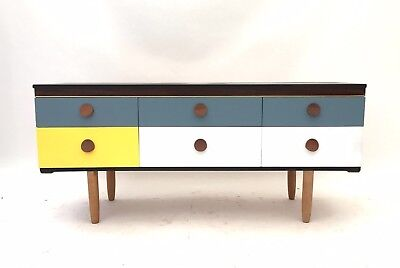 Vintage Retro Mid Century 1960s Atomic Danish Era Sideboard Chest of Drawers