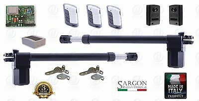 FULL KIT 230V SWING GATE Dual leaf gate opener electric 3 remotes MADE IN ITALY