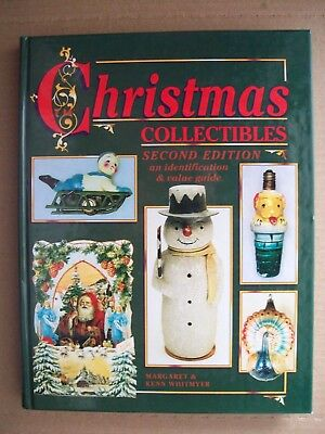 ANTIQUE CHRISTMAS PRICE GUIDE BOOK includes Ornaments Lights Jewelry China +More