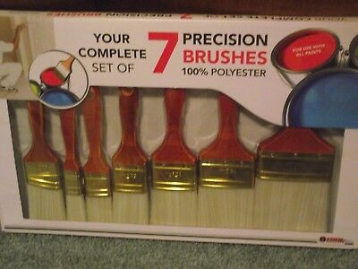Tool Solution Complete Set of 7 Precision Paint Brushes   NIB