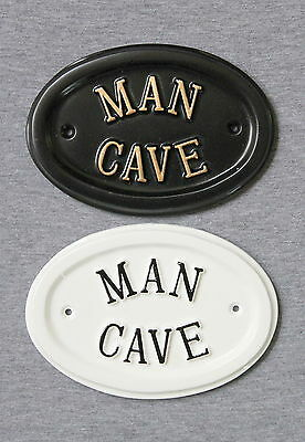 MAN CAVE sign for garden shed / workshop / garage -ideal gift for dad or grandad