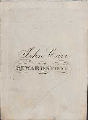 'John Carr' Sewardstone, near Woodford  Ex-Libris  Bookplate   RO.58