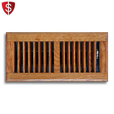 Floor Vent Cover Diffuser Heating  AC Oak Air Register Grate Décor HVAC Brown