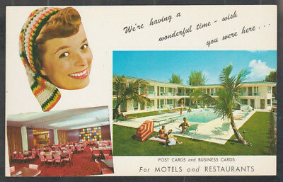 1960 Advertising Postcard to Purchase Postcards For Your Hotel Motel Restaurant