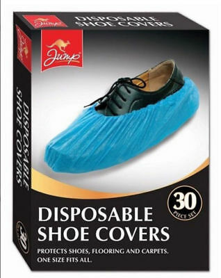 Disposable Plastic Overshoes Shoes Covers Carpet Floor Shoe Protectors 30 Pc