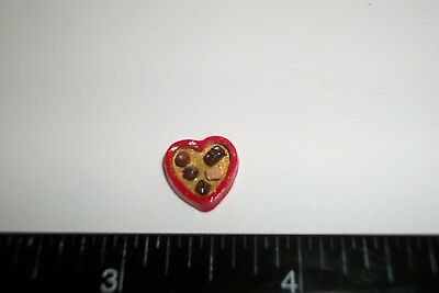 Dollhouse Miniature Handcrafted Valentines Chocolate Heart Box Dessert Food 11mm