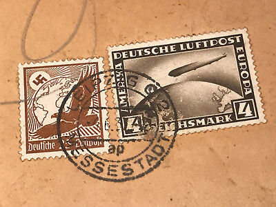 Brief Deutsches Reich Luftschiff Graf Zeppelin Cover Bombay