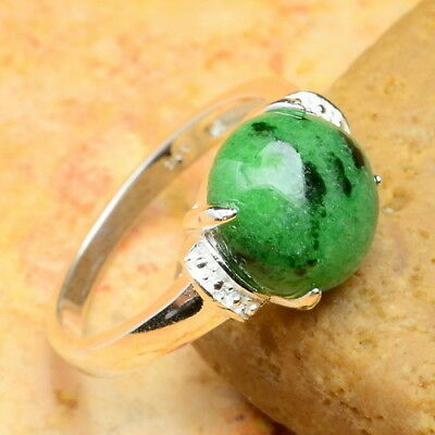 Natural Ruby Zoisite Gemstone 100% Solid 925 Sterling Silver Sz 6.75 Ring
