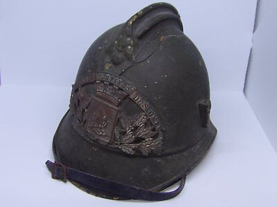 Rare Casque De Pompier Couleur Defense Passive  Saint- Omer