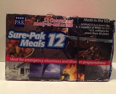 Sure-Pak SOPAKO  Genuine GI Military MRE Meals (12 Meals)