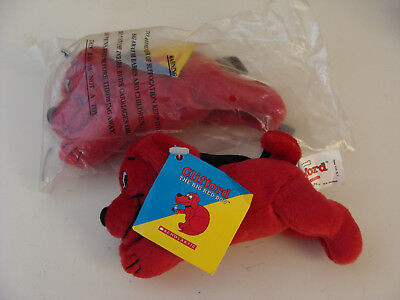 "Clifford the Big Red Dog 5"" stuffed animal Scholastic Sidekicks New in Wrapper"