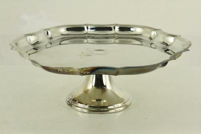 Vintage INTERNATIONAL Silver Plated Cake Stand Serving Tray CHIPPENDALE Pattern