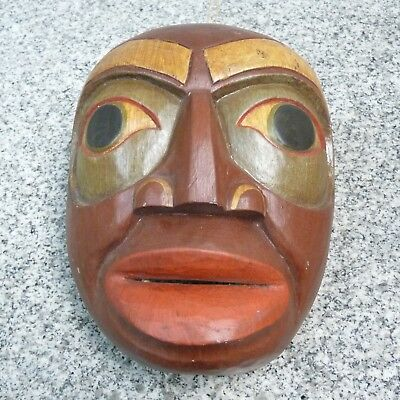 Wood Mask Hand Carved and Hand Painted