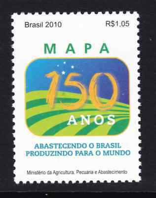Brazil Stamp 2010 Mnh - 150 Years Of The Ministry Of Agriculture