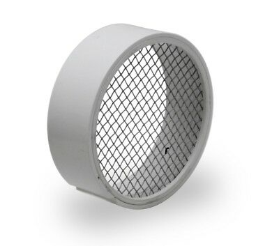 Raven R1510 PVC Termination Vent Stainless Steel Screen 4 Inch Easy to Install