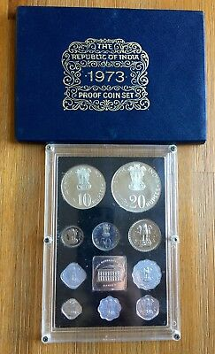 India Proof Coin Set 1973 - No International Shipping