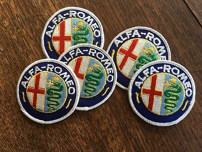 FIVE !!!! ALFA-ROMEO  Jacket Patches  Milano Spyder 164 Graduate Guilia Alfasud