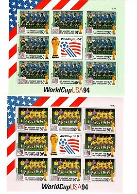 Fußball WM 1994 USA, St. Vincent and Grenadines 6 Blöcke
