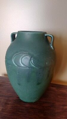 Rookwood arts and crafts matte green pottery vase 1905 Stickley era