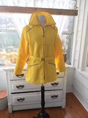 Vintage Sears Sports Center Ted Williams Brand Misses Yellow Ski Jacket - Size M