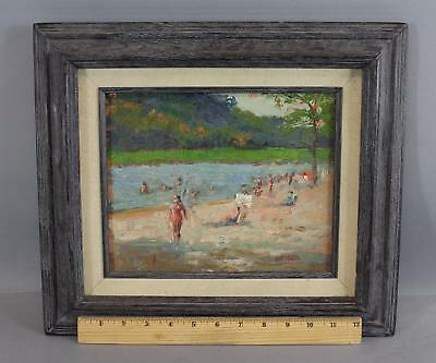 Vintage Authentic SUSAN GRISELL American Impressionist Beach Oil Painting